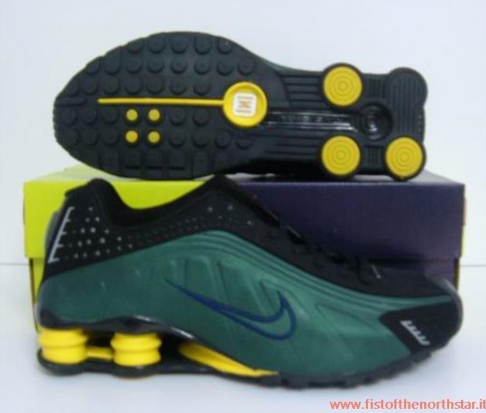 nike shox r4 verdes