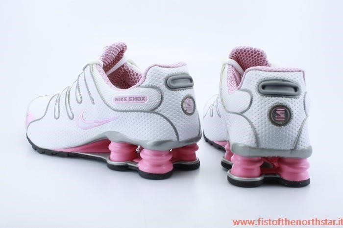 nike shox bianche e rosa